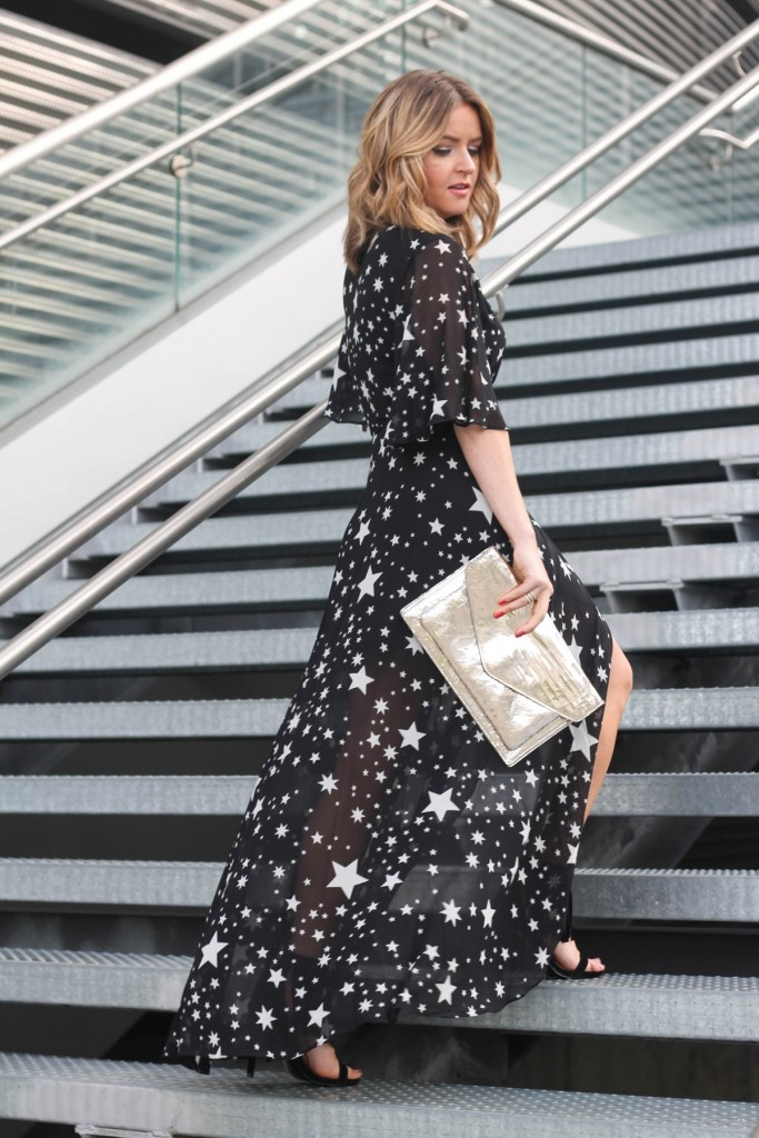 star print lovers and friends maxi dress
