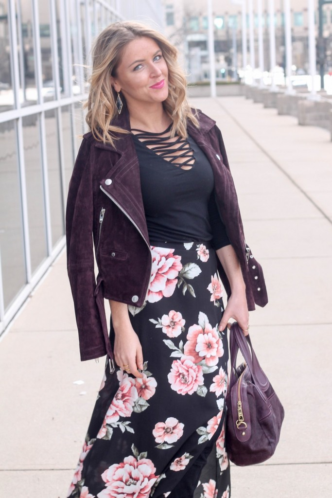 How to wear florals in winter