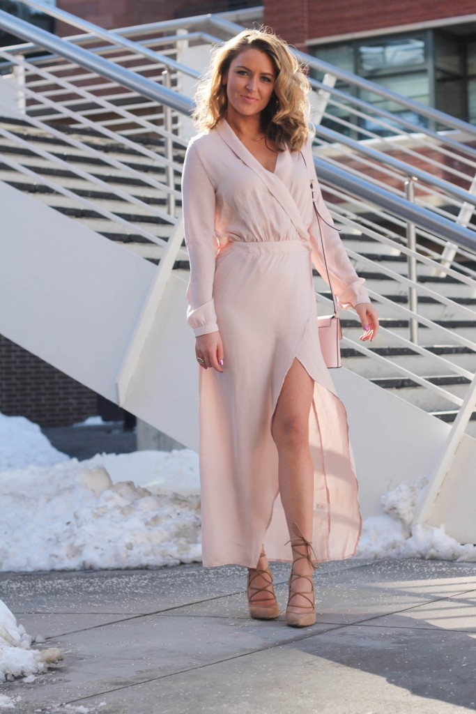 Blush Valentines Day Dress