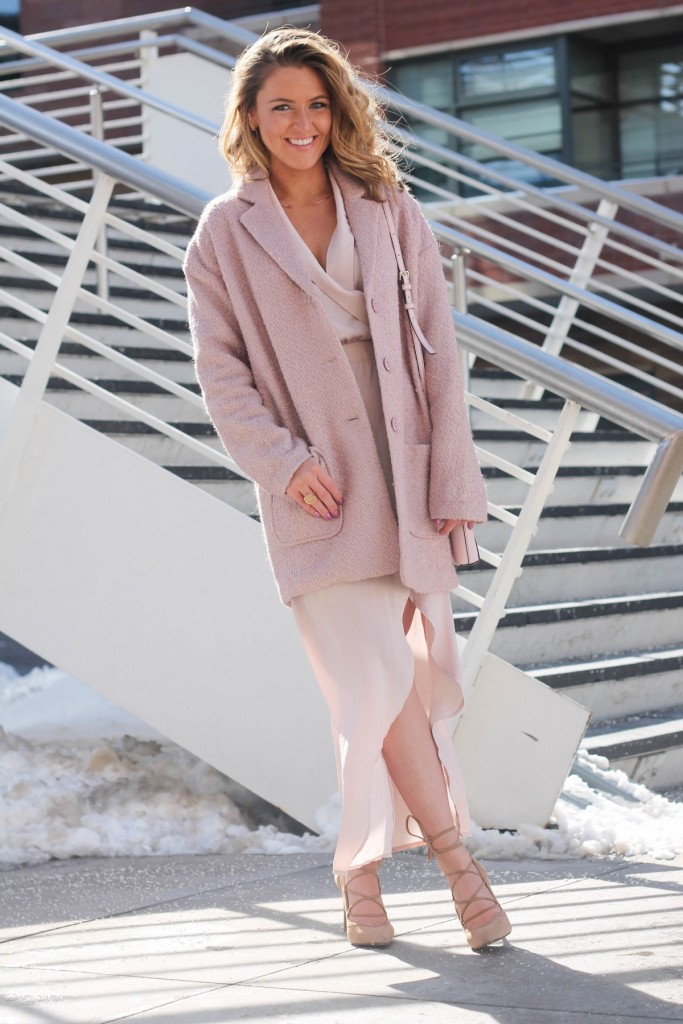 Blush Valentines day outfit