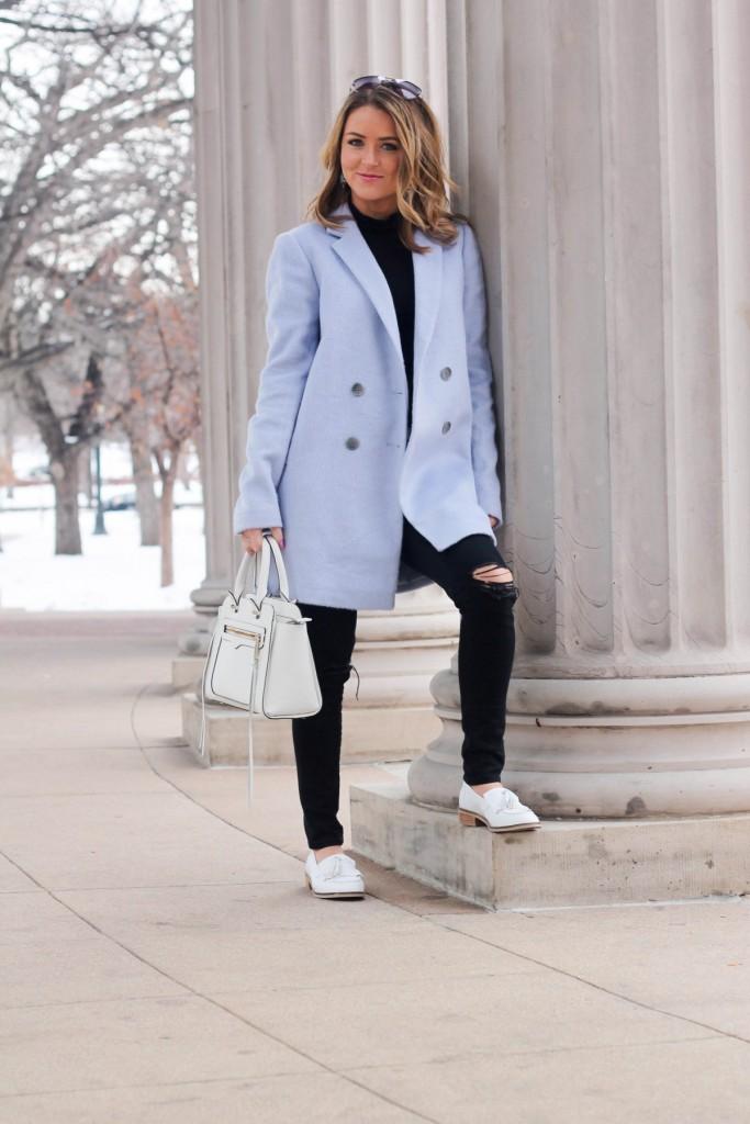 baby blue winter coat