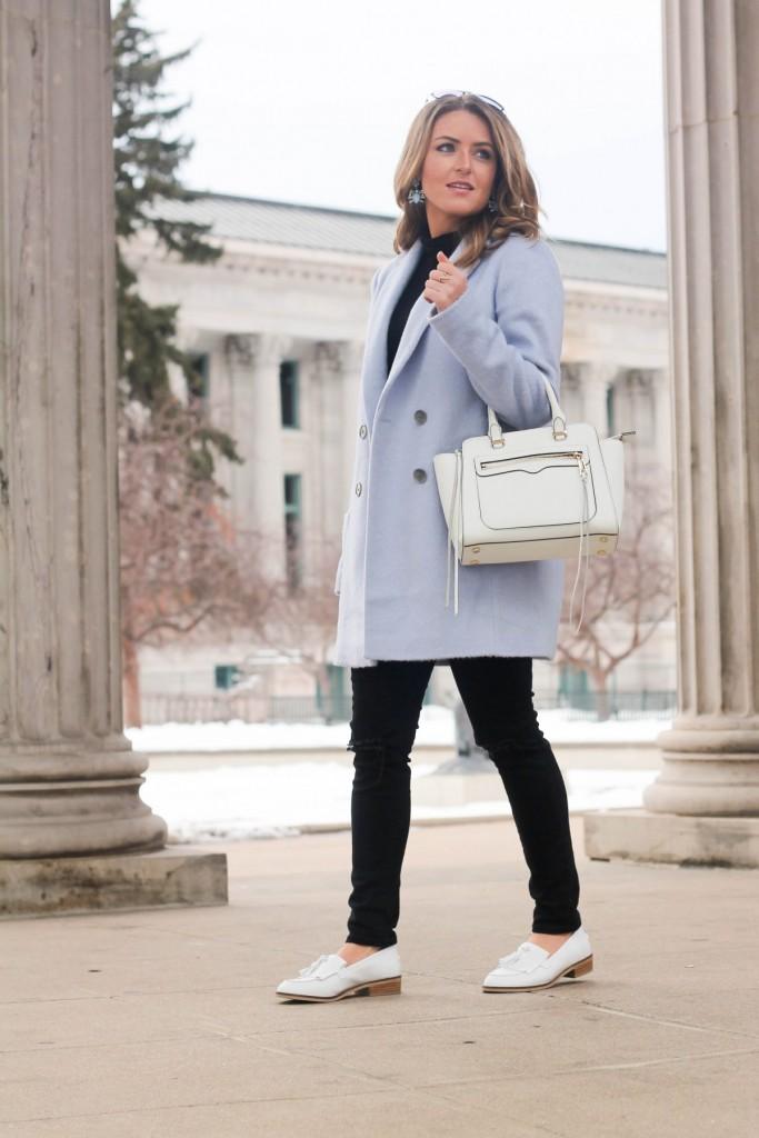 Ann Taylor Blue Coat