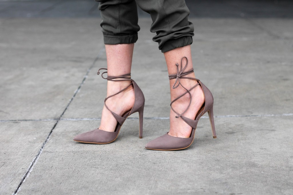 lace up steve madden raela pumps