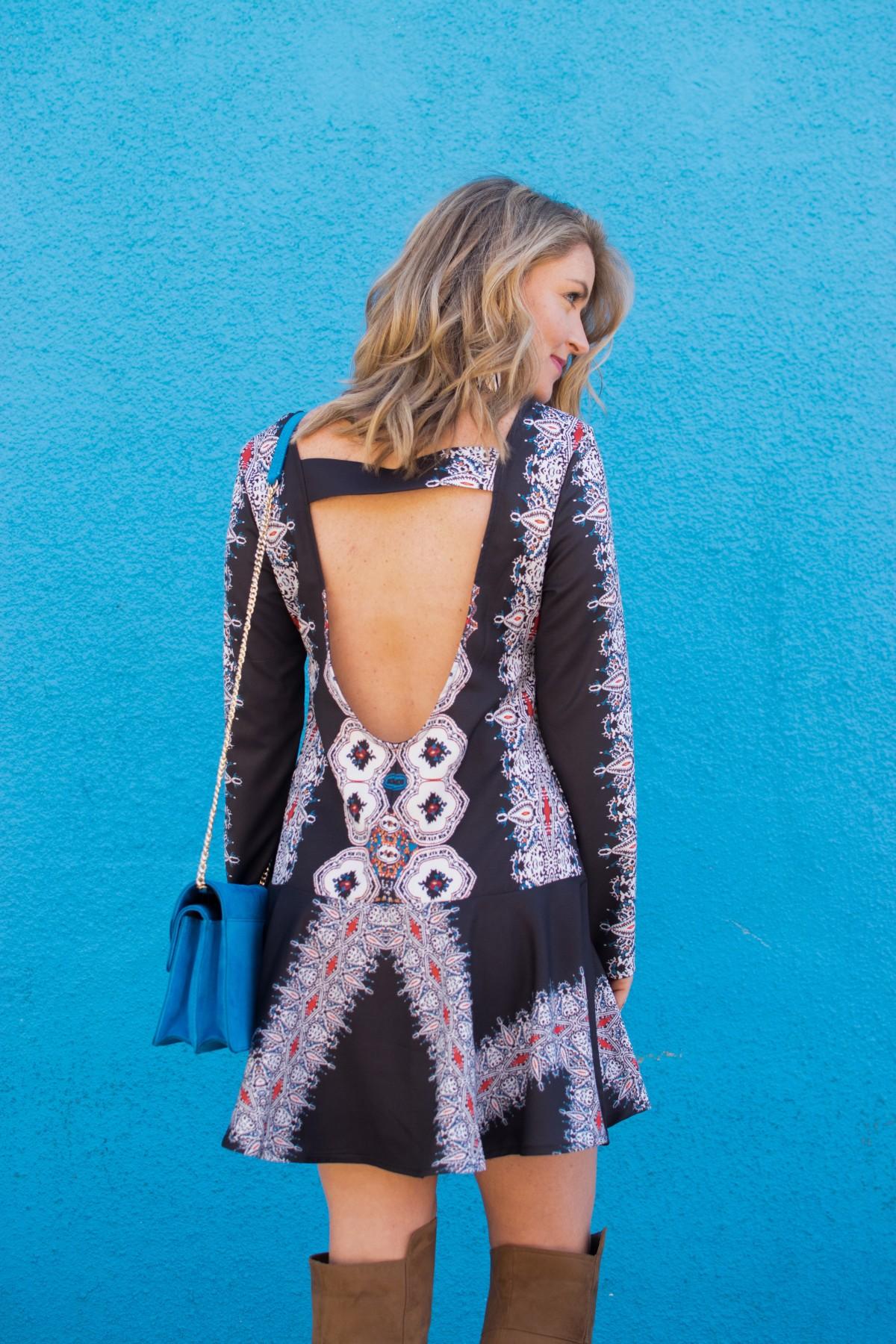 backless boho dress