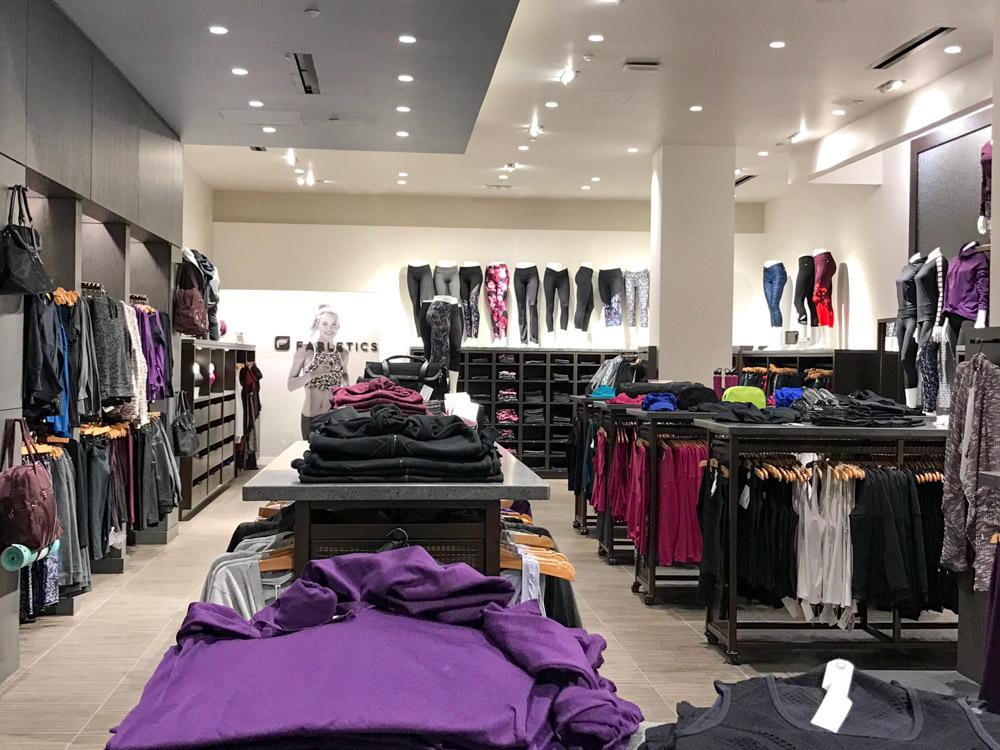 Fabletics Cherry Creek shopping center
